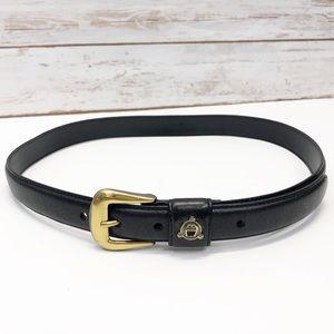 VTG Etienne Aigner Black Leather Belt Sz L